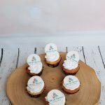 Cupcakes met bedrijfslogo