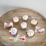 Cupcakes met een vulling van Rafaello