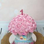 Giant cupcake smashcake